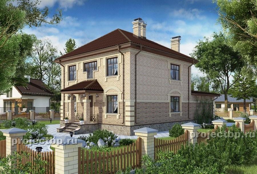Проект двухэтажного дома в английском стиле 184-B